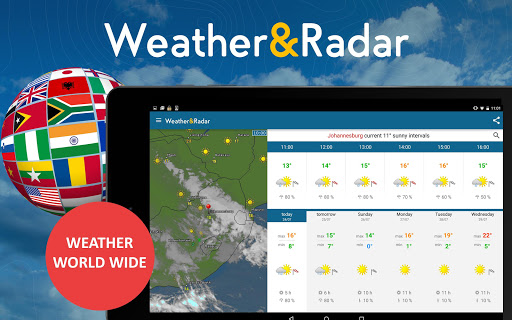 Weather & Radar Pro Ad-Free app for Android screenshot