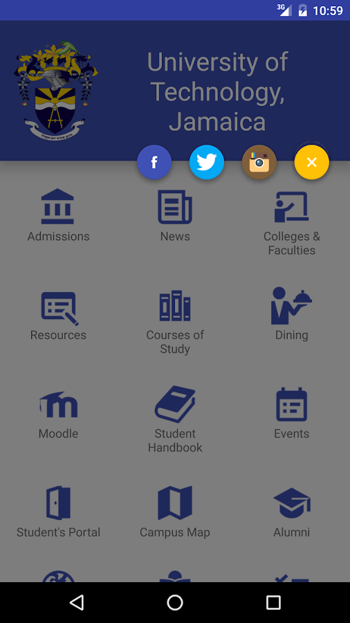 UTech Jamaica Mobile- screenshot
