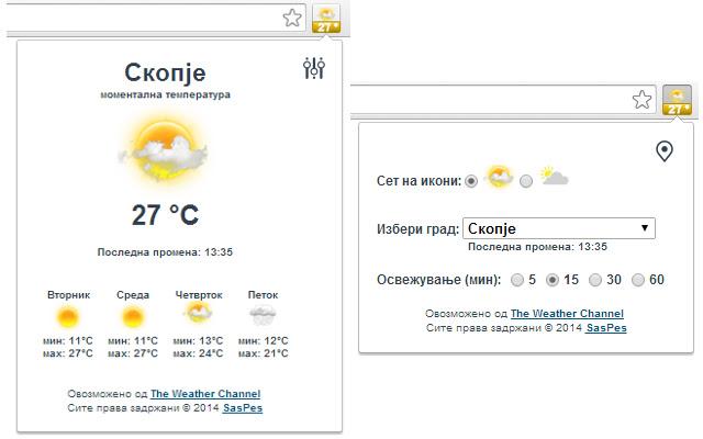 Временска прогноза за Македонија
