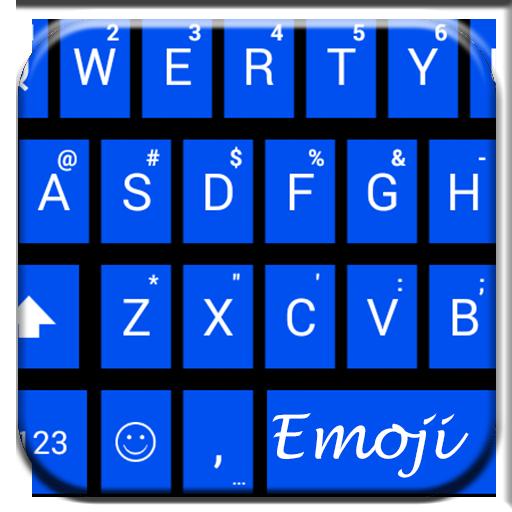 Tiles Blue Emoji Keyboard