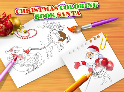 Christmas Coloring Book Santa Game