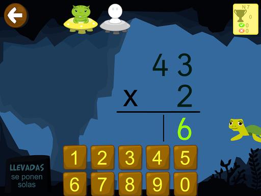 Matemáticas con Grin II 678 multiplicar fracciones 3.1.64 screenshots 1