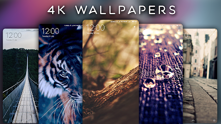 4K Wallpapers - Auto Wallpaper Changer APK screenshot thumbnail 1