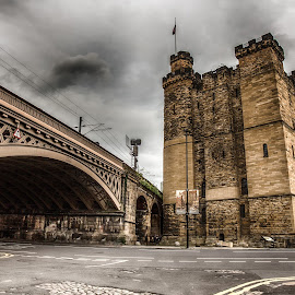 Castle Keep, Newcastle by Davey T - City,  Street & Park  Historic Districts ( newcastle, castle, bridge, architecture, north tyneside, historic )