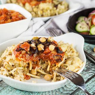 Koshari - Egyptian Lentil and Rice Pasta.