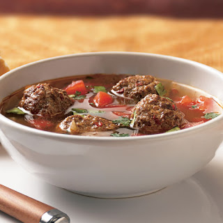 Spicy Meatball Soup.