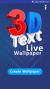 3d Text Photo Cube Live Wallpaper For Mobile 2018 Apps En