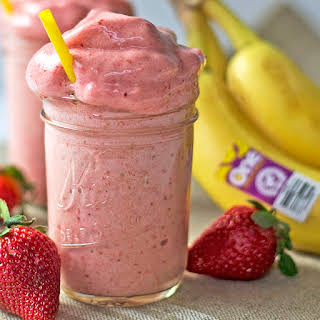 Over-The-Top Banana Strawberry Smoothie.