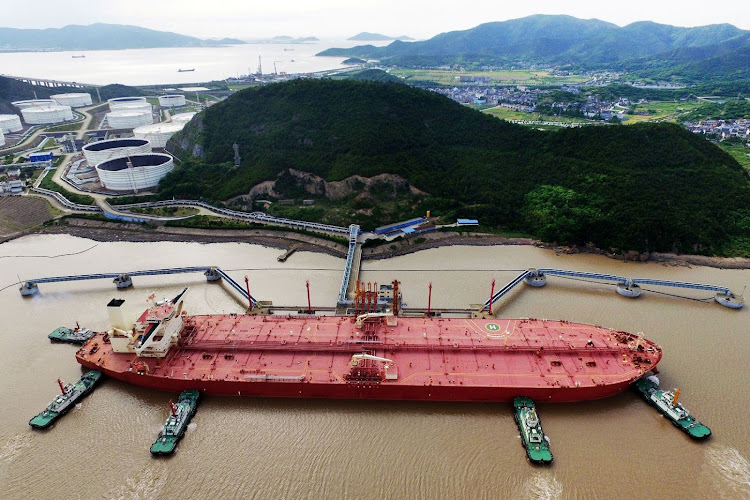 A VLCC oil tanker is seen at a crude oil terminal in Ningbo Zhoushan port, Zhejiang province, China. Picture: REUTERS/STRINGER/FILE PHOTO