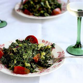 Kale Fennel Salad with Lemon Basil Pesto Vinaigrette