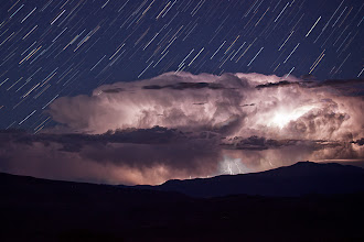 Photo: Lightning Storm under the Stars I captured this storm in a timelapse video you can see on YouTube as well: http://youtu.be/I8OEEhKlKzE?hd=1