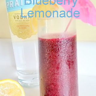 Boozy Frozen Blueberry Lemonade