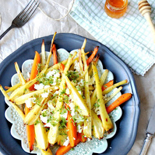 Roasted Root Vegetables with Feta & Honey