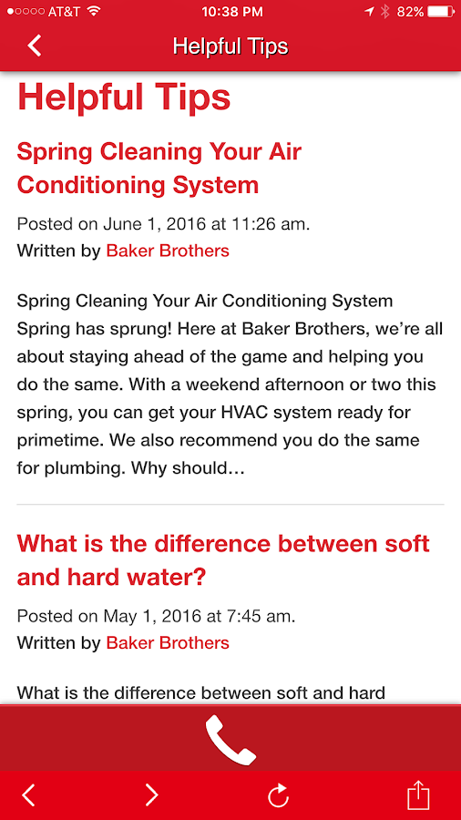 Baker Brothers Plumbing & Air- screenshot