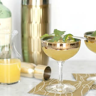 Sweet Smoky Prosecco Cocktail.