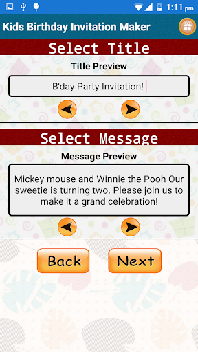 Kids Birthday Invitation Maker  screenshots 2
