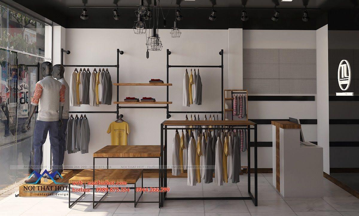 thiết kế shop thời trang nam 4