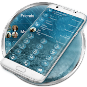 Dialer Bubble Rain Theme