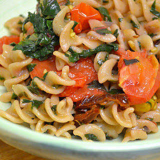 Summer Pasta With Roasted Tomato, Chard And Garlic