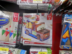 Photo: I've got to get this Mater snack caddy. I think I'll put popcorn in it.