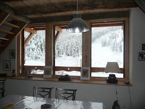 Photo: Appartement 1 - Vue en hiver depuis la salle à manger