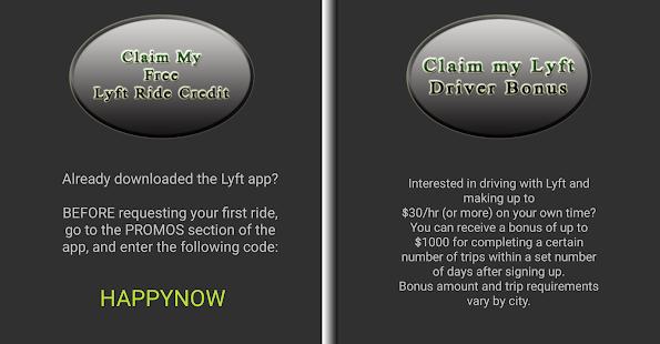 RideShare - Free Rides + Driver $ Bonus