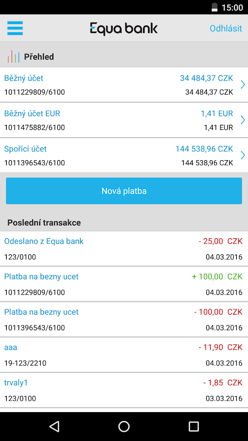 Equa bank- screenshot