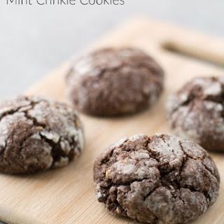 Gluten Free Chocolate Mint Crinkle Cookies