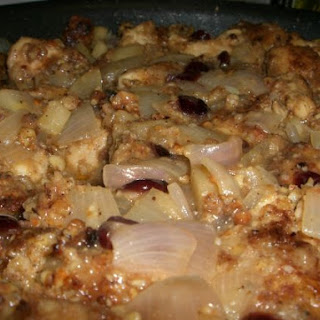 Almond Crusted Chicken w/Apple Onion Sauce