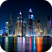 Night Dubai Video Wallpaper