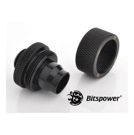 """Bitspower komp.nippel, 1/4""""BSPx1/2""""ID-3/4""""OD, Matt Black"""