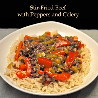 Stir-Fried Beef with Peppers and Celery