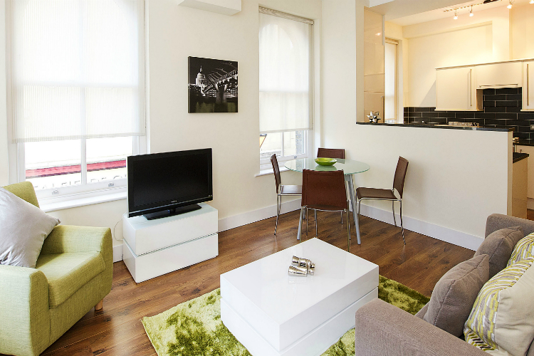 Living area at Native Spitalfields