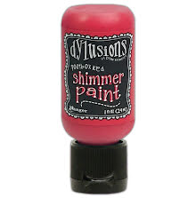 Dylusions Shimmer Paint 29ml - Postbox Red