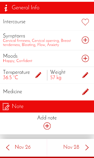 Period Tracker & Diary 6.0.1 screenshots 3