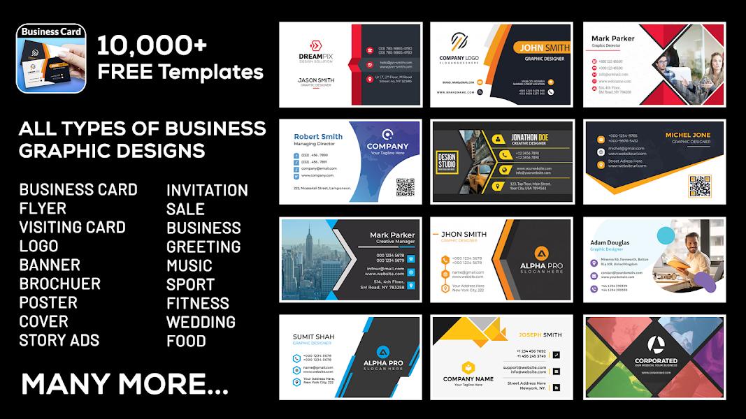 Business, Visiting Card Maker & Designer
