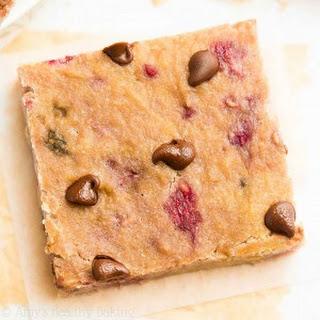 Raspberry Chocolate Chip Banana Bread Brownies
