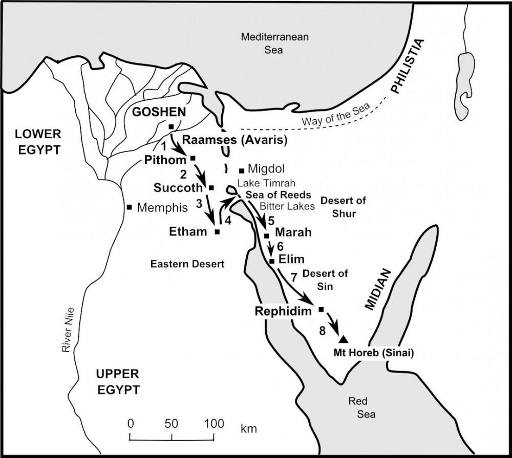 The Bible Journey | The Israelites flee from Egypt