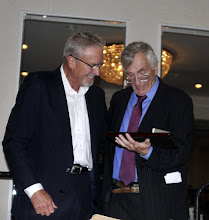 Photo: Hersh was visibly moved by the presentation