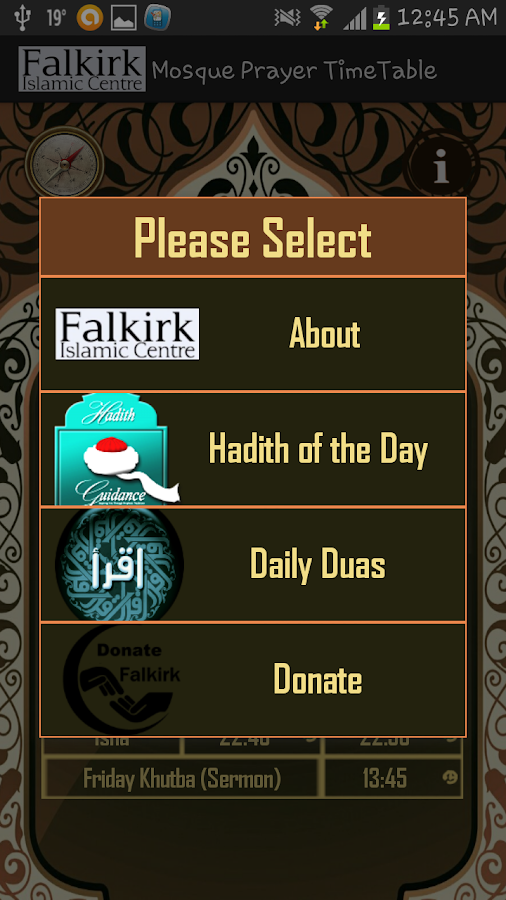 Falkirk Mosque Prayer Times- screenshot