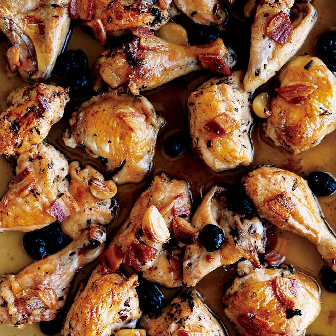 Roast Chicken  in the same way as Pancetta and Olives