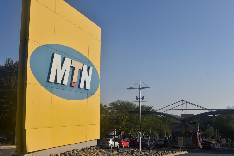 MTN Logo at the MTN head offices in Fairland.Picture: FREDDY MAVUNDA