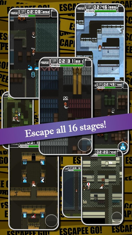 Completely Free Pixel Stealth Action: ESCAPEE GO!- screenshot
