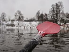 Photo: troszkę obmarzło wiosełko