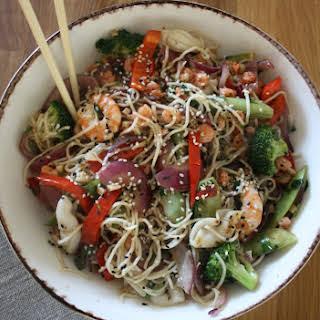 Prawn & Squid Noodle Bowl.