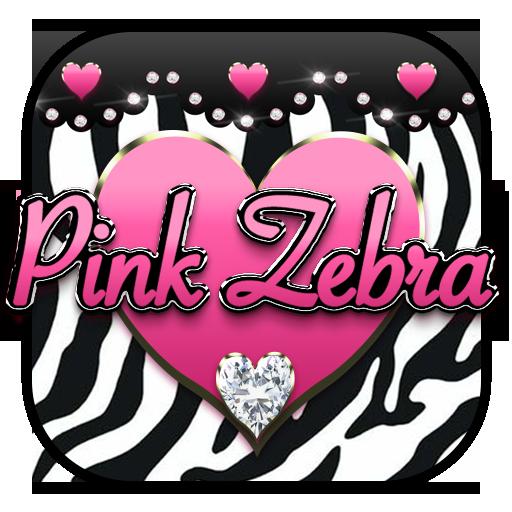 Pink Diamond Zebra Love Keyboard Theme