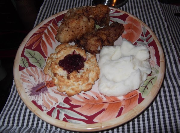 Serve chicken and gravy with mashed taters and biscuits. and ENJOY!!