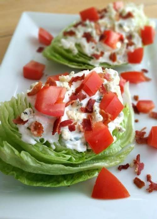 """Wedge Salad with Tarragon Blue Cheese Dressing """"I love wedge salads and..."""
