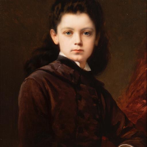 Nathaniel Sichel - Portrait d'une jeune fille