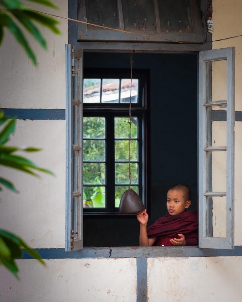 Monaco del Bhutan alla finestra di laurafacchini